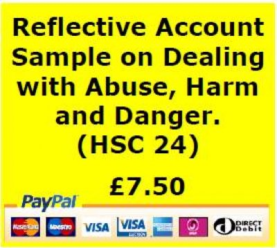 sample reflective account on abuse health and social care A reflective account is usually a write up of how you have carried out part of your  visit here for samples of nvq health and social care reflective account.