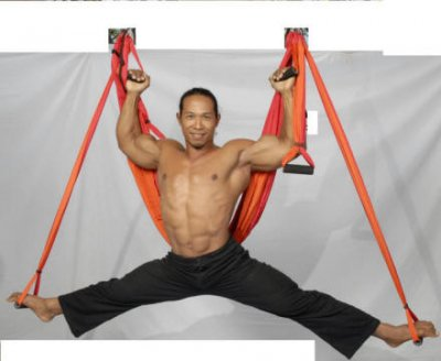trx alternativo equipo ejercicios en suspension yoga aereo pilates yoga swing_